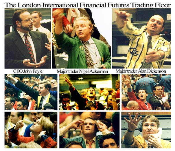 london futures trading floor composite